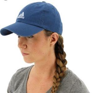 adidas women's blue 'saturdays' hat. NWT